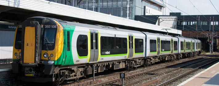 London Midland class 150 106 in Northamton station 24th July 2014