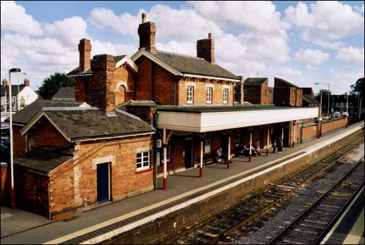 Oakham station main building in 2003