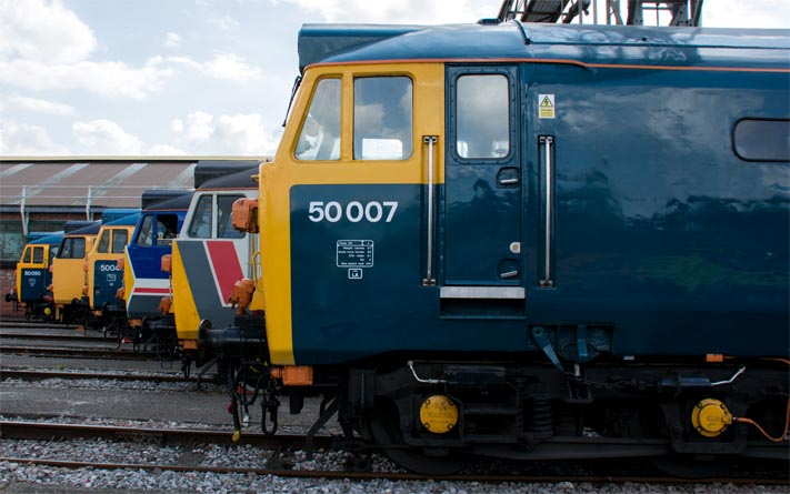 The Class 50 line up