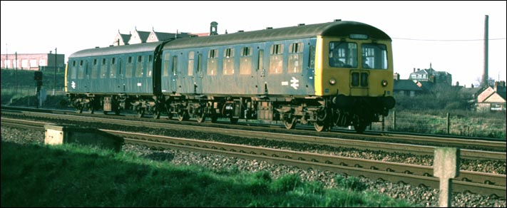 A two car Cravens DMU which were used on local stopping trains along the ECML