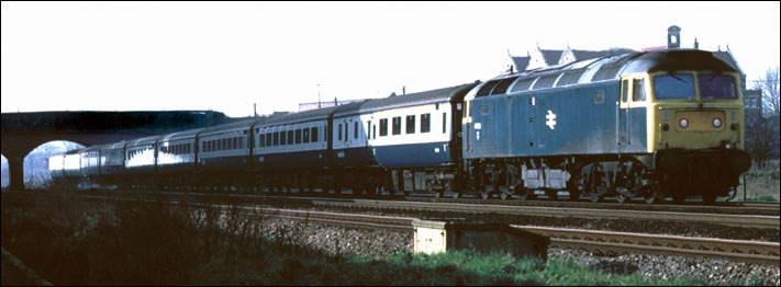 Class 47 on a down passenger train at Fletton