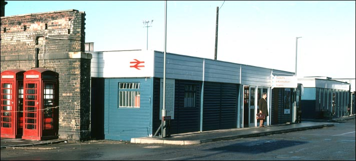 temporary wooden building at Peterborough station