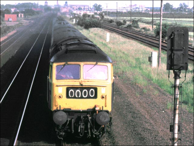 A down train with a Class 47 at Werrington