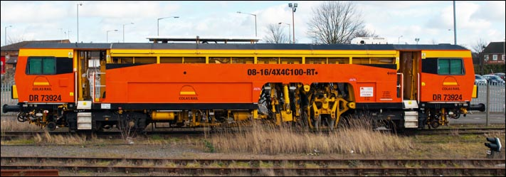 Colas Rail DR73924 was still in the small Loco depot at Peterborough on the 21st February 2014