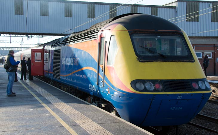East Midland trains HST power car 43044