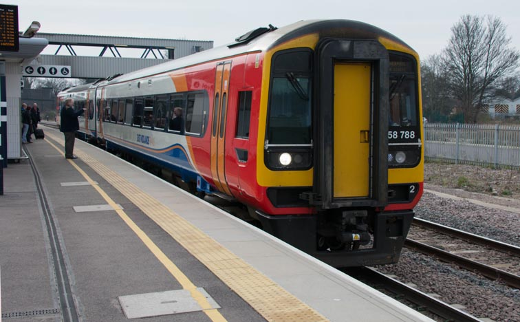 East Midland Trains class 158 788