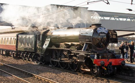 "Flying Scotsman on Thursday the 25th February 2016 with ""THE INAUGURAL RUN"""