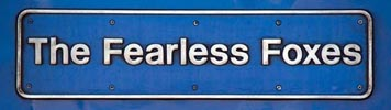 East Midland trains HST power car 43061 'The Fearless Foxes' name plate