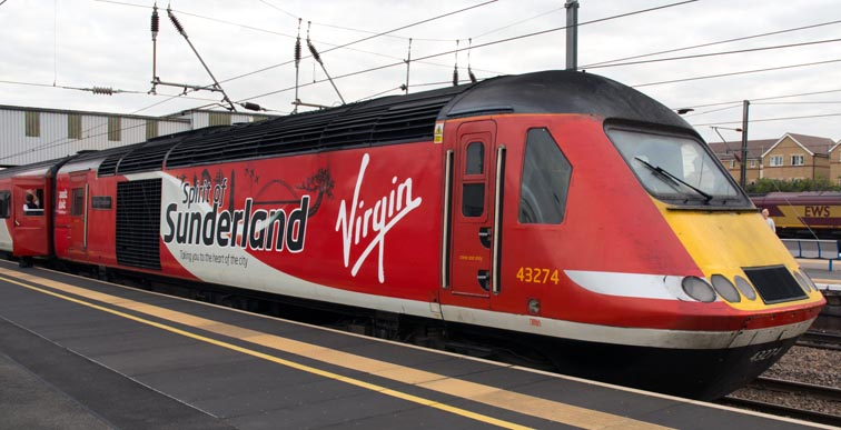 Virgin East Coast HST power car 43274 'Sprit of Sunderland'