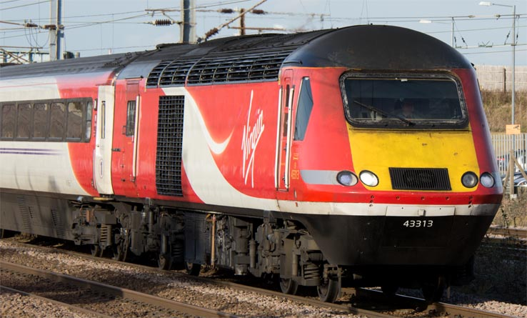 Virgin East Coast HST  power car 43313