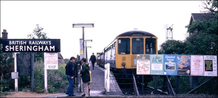 Sheringham main line railway station in BR days in 1978