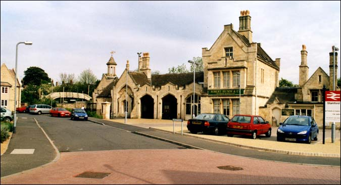 The outside of Stamford station