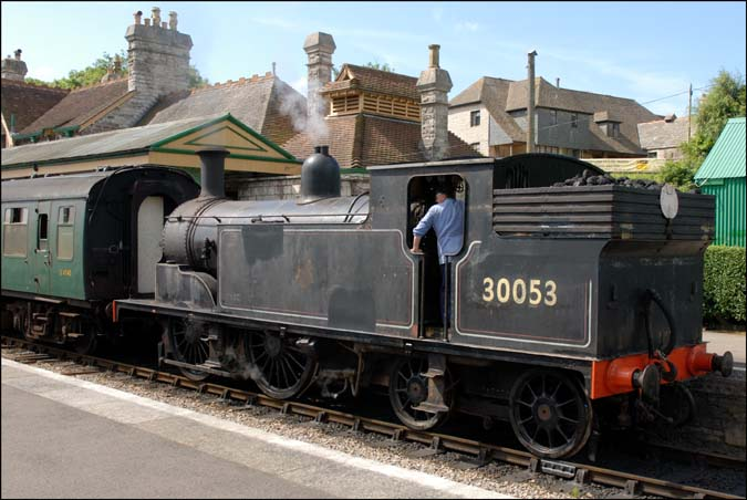 30054 at Corfe Castle station