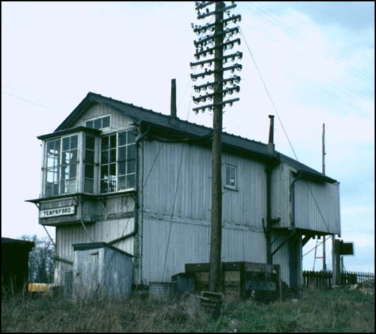 Rear of Temsford signal box