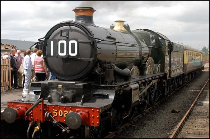GWR 5029 at the open Weekend at Tyseley in 2008