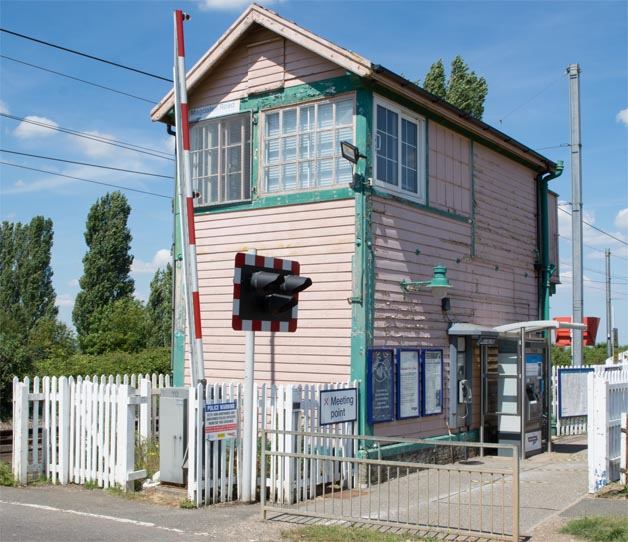 Magdalen Road signal box in 2020