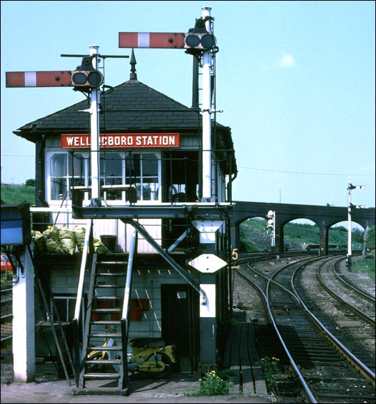 Wellingboro Station signal box at Wellingborough station.