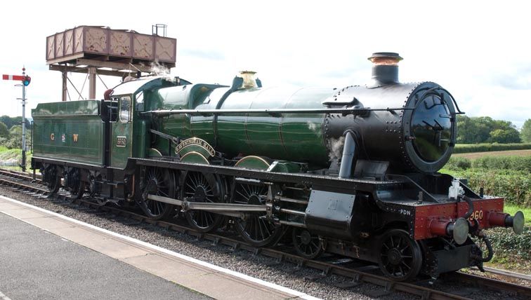 GWR 4-6-0 Raveningham Hall At Bishops Lydread station
