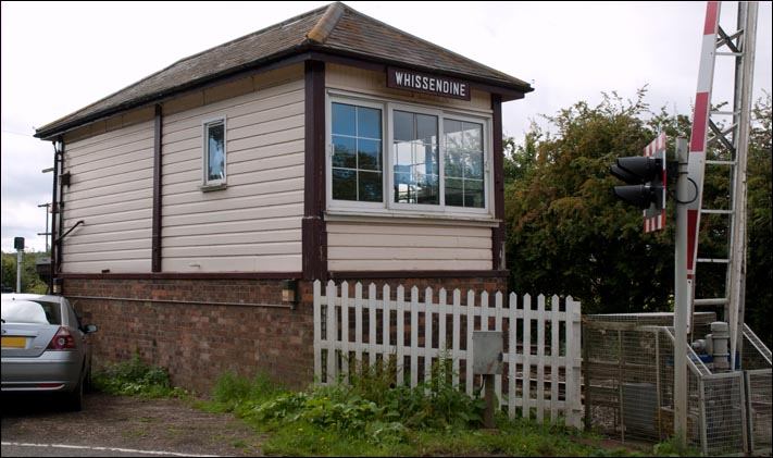 Wissendine signal box from the rear in 2009