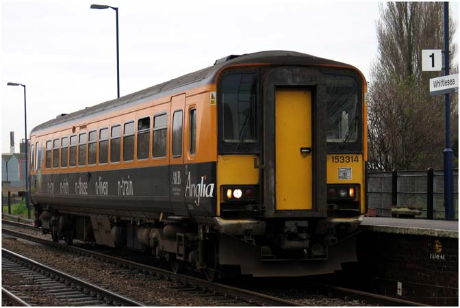 Anglia 153314 in Whittlesea station