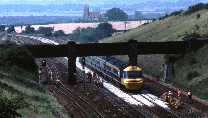 HST on a London train at Abbots Ripton