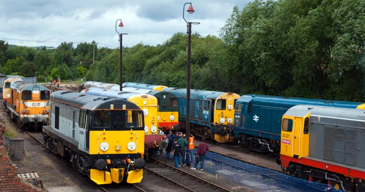 class 20s lined up at Barrow Hill in 2007