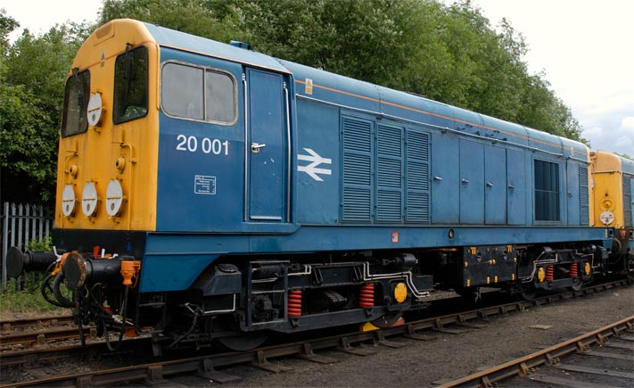 class 20001 at Barrow Hill