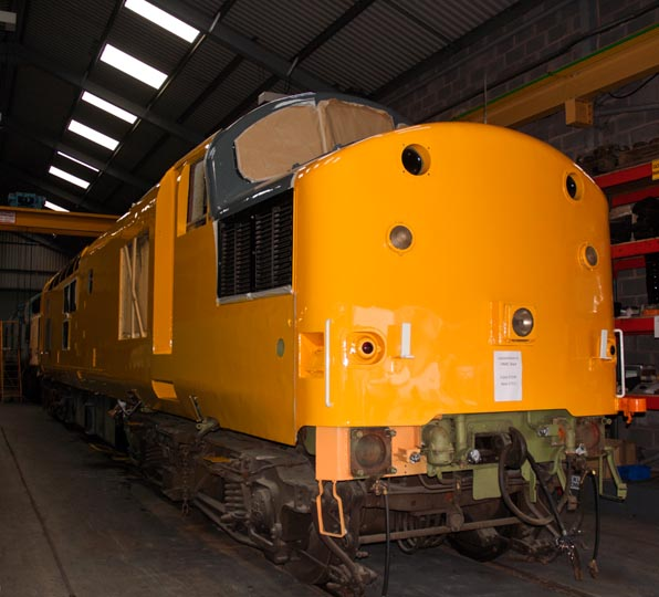 Class 37100 in the HNRC shed