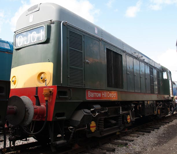 Class 20 132  named BARROW HILL DEPOT