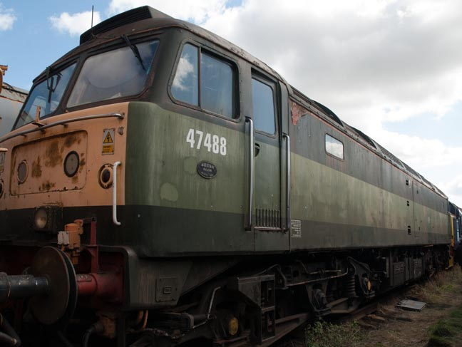 Class 47488 at Barrow Hill