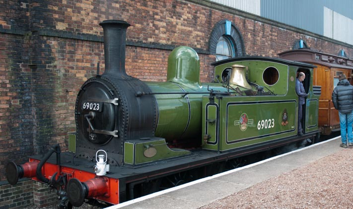 LNER J72 0-6-0T 69023 at Barrow Hill