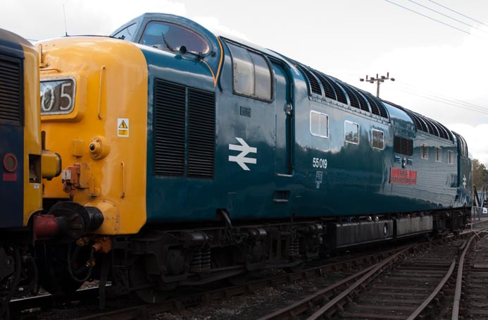 Deltic Class 55019 Royal Highland Fusilier