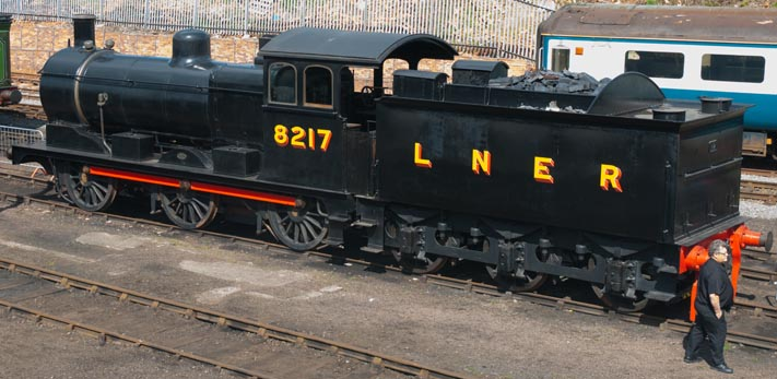 LNER 8217 (J17) outside in the yard at Barrow Hill