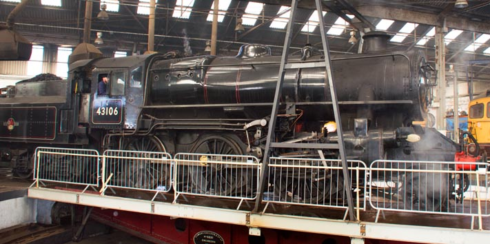 43106 inthe Barrow Hill Roundhouse