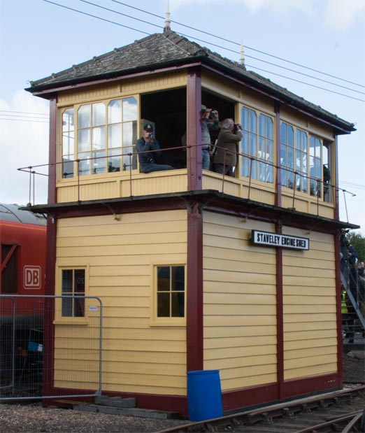 Staveley Engine Shed signal box at Barrow Hill in 2015