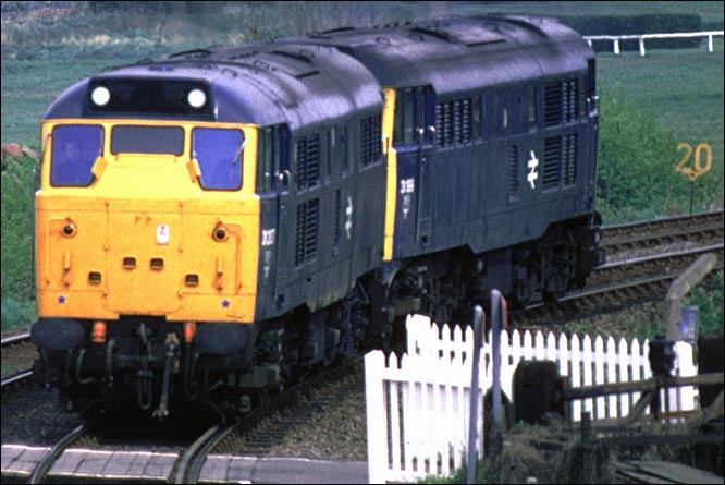 Two class 31s come from the Newmarket line light engines