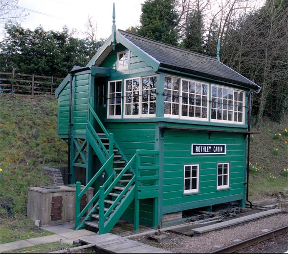 Rothley Cabin signal box at the Great Central Railway