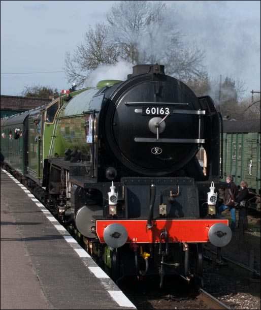 Tornado at the Great Central Railway's Quorn and Woodhouse station on the 21st March 2010