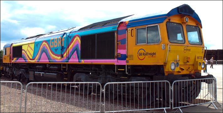 GBRf class 66720 which was on display