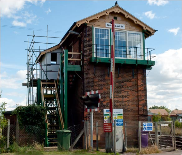 East Junction signal box having a make over in 2012