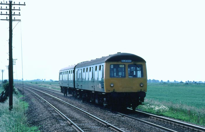 two car Cravens DMU to Doncaster  on the March to Spalding line