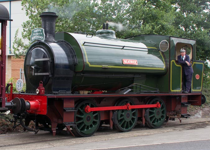Beatrice a 0-6-0ST Hunslet on the Balm Road branch