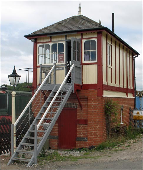 Linby Station signal box at The Midland Centre