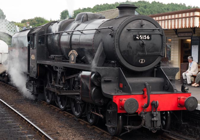45156 at Weybourne station on the 1st of September 2012