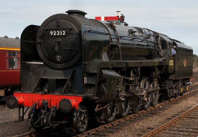 9F no 92212 at Weybourne station