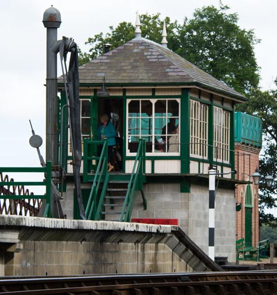 Holt signal box and water crane