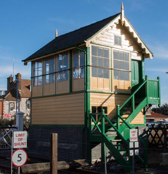 Sheringham East signal box in 2015