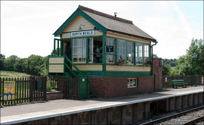 North Weald signal box and the platform