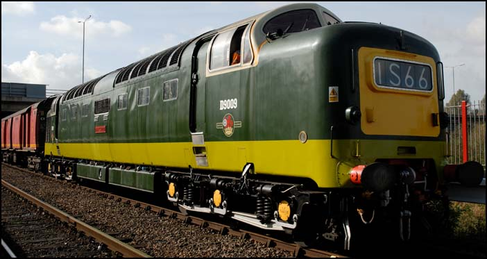 Deltic on a mail train at NVR