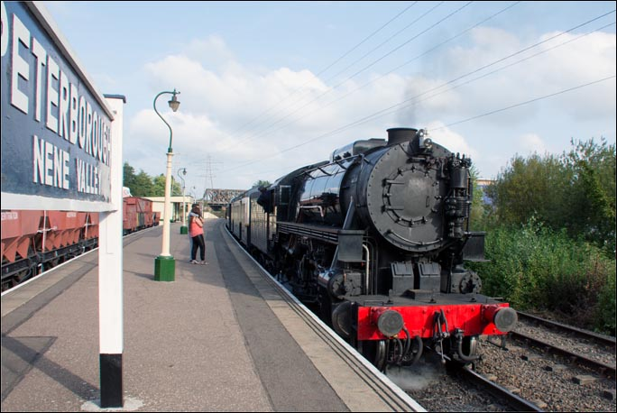 S160 6046 at the Peterborough Nene Valley railway station on Sunday the 14th of September 2014